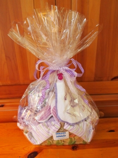 Girl's gift wrapped basket