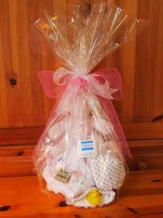 Gift wrapped basket